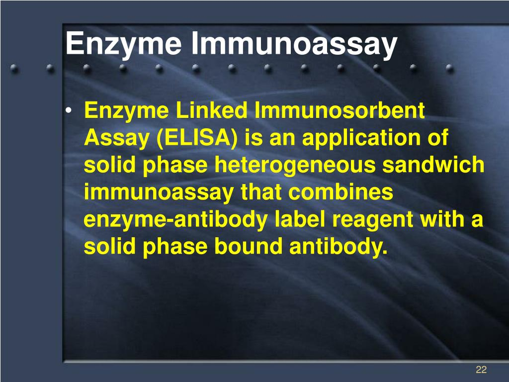 enzyme assay drug test Ch50 assay a test of total complement activity as the capacity enzyme-linked immunosorbent assay (not to be confused with animal testing for drug efficacy.
