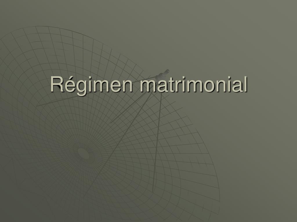 Régimen matrimonial