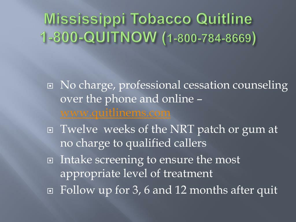Mississippi Tobacco Quitline