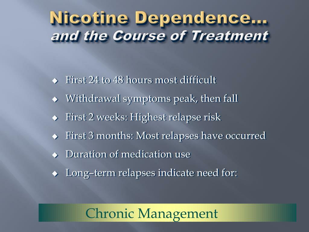 Nicotine Dependence...