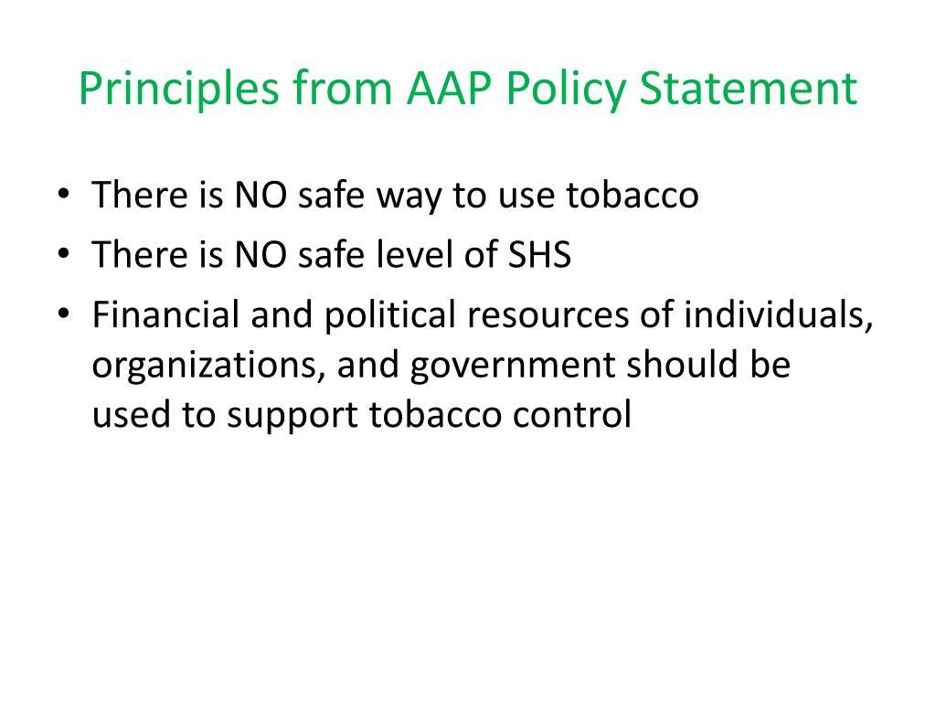 Principles from AAP Policy Statement