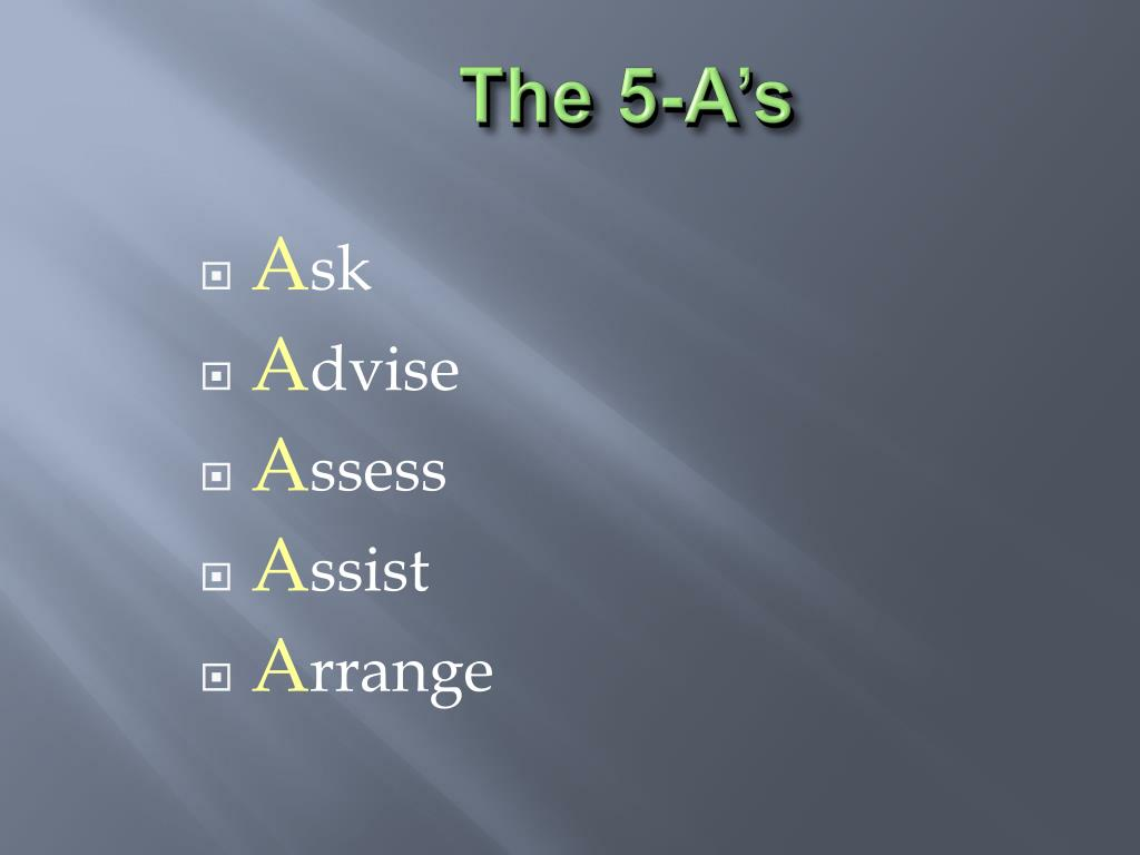 The 5-A's