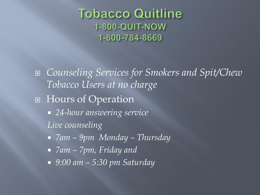 Tobacco Quitline