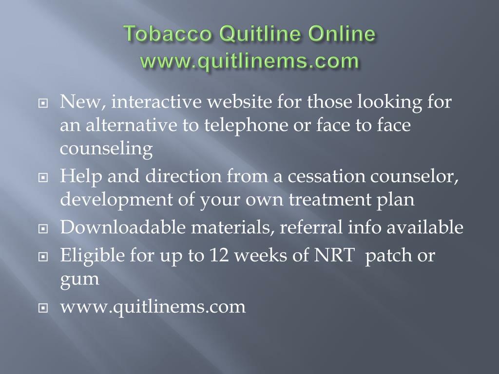 Tobacco Quitline Online