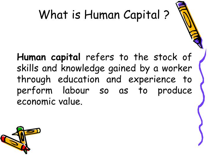 What is human capital