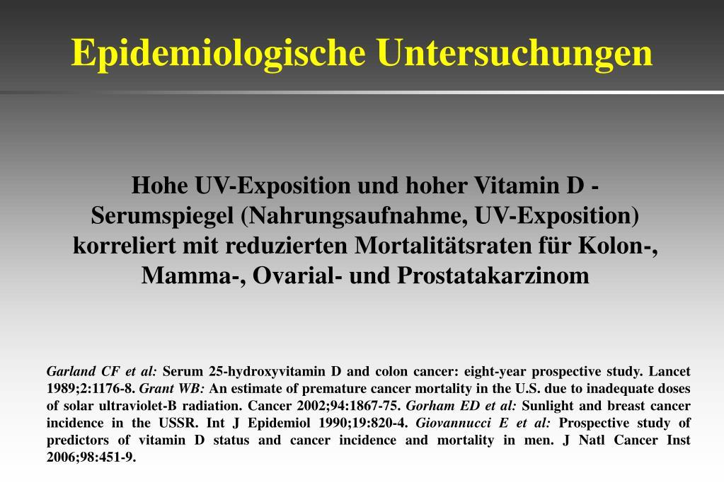 Epidemiologische Untersuchungen