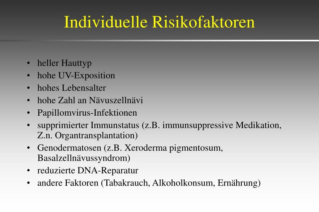 Individuelle Risikofaktoren