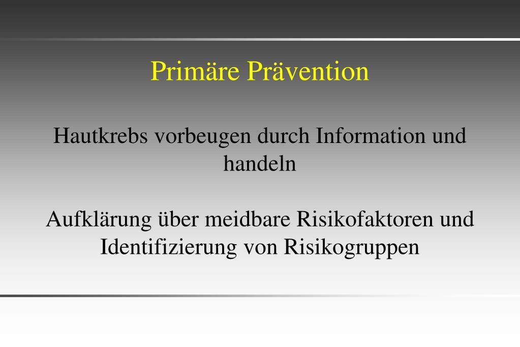 Primäre Prävention