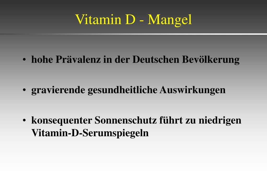 Vitamin D - Mangel