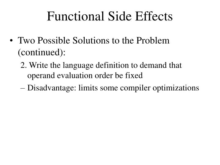 Functional Side Effects