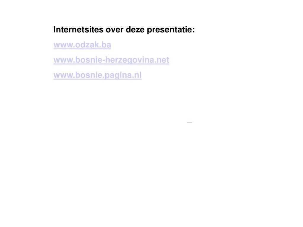 Internetsites over deze presentatie: