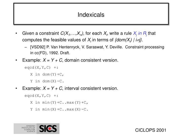 Indexicals