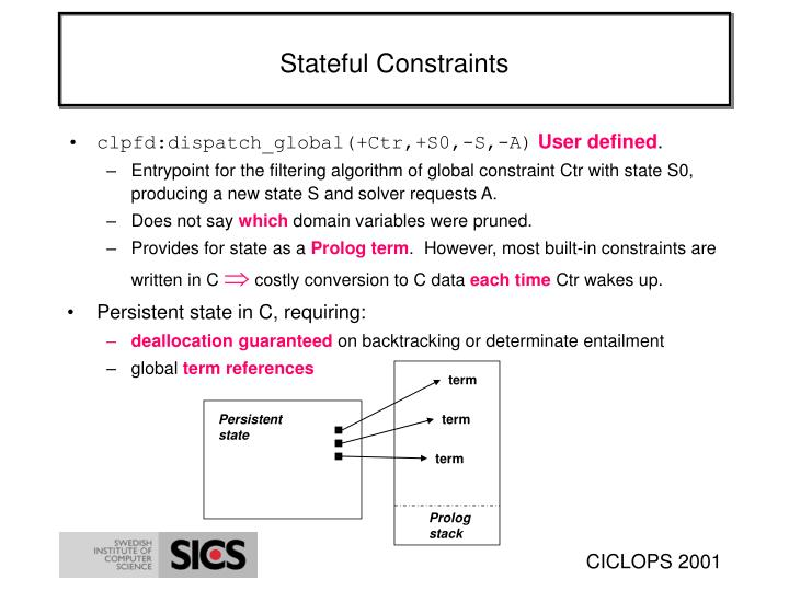 Stateful Constraints