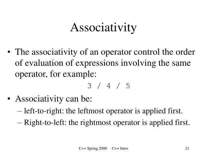 Associativity