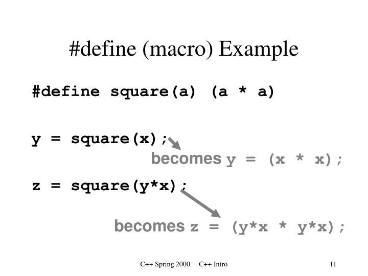 #define (macro) Example