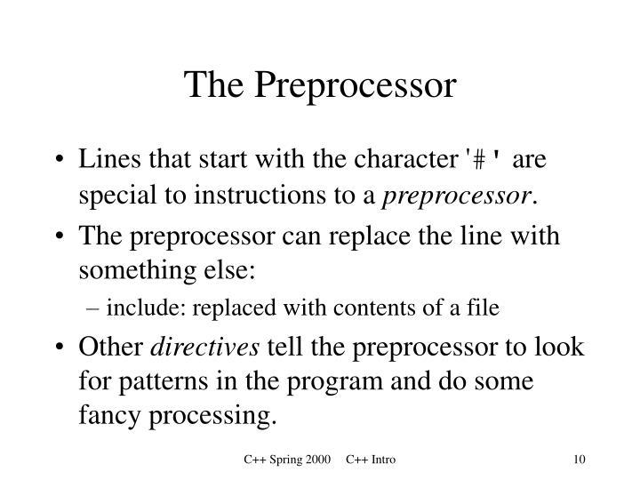 The Preprocessor