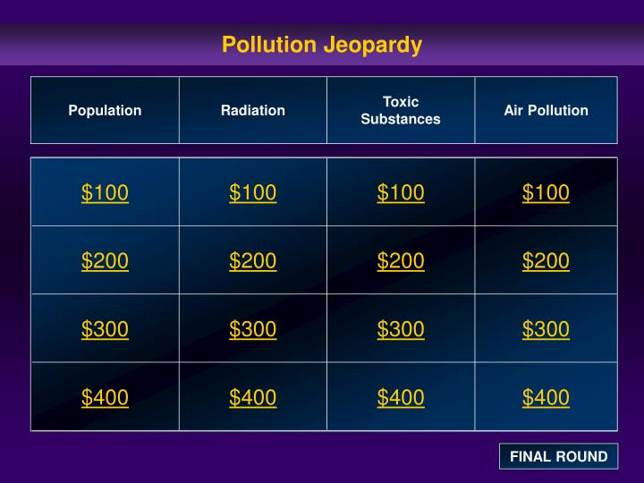 Pollution jeopardy