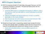 mcci 2 program objectives