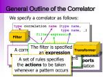 general outline of the correlator