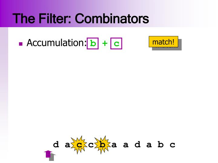 The Filter: Combinators