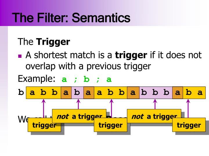 The Filter: Semantics