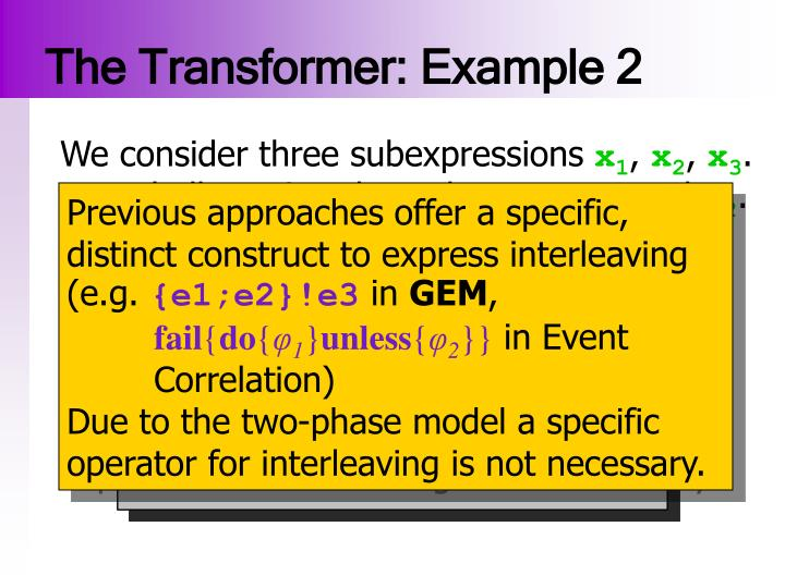 The Transformer: Example 2