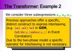 the transformer example 2