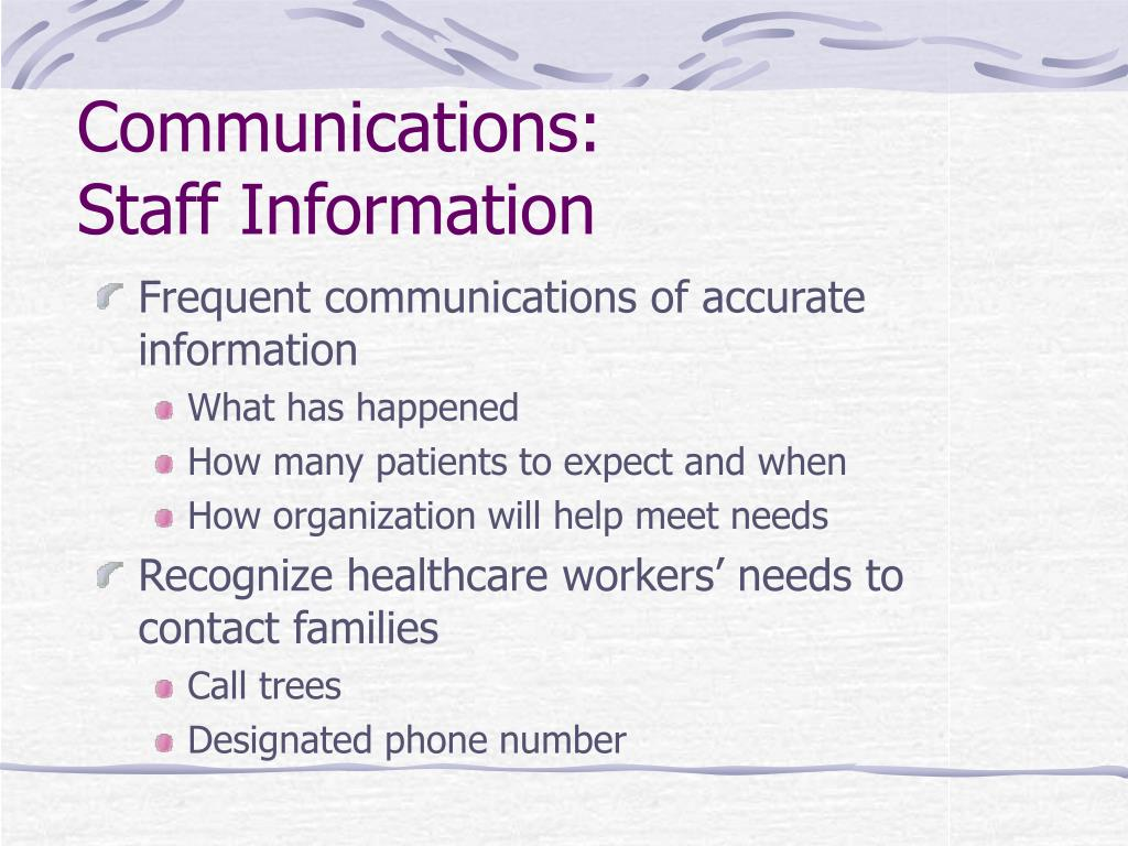 Communications: