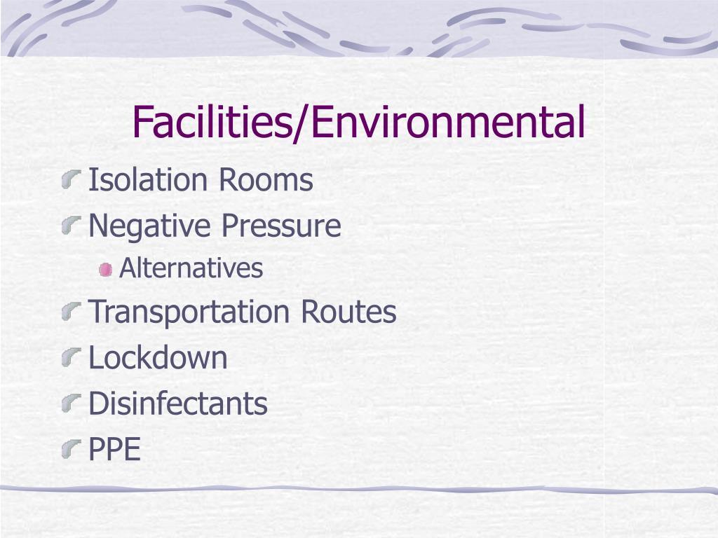 Facilities/Environmental