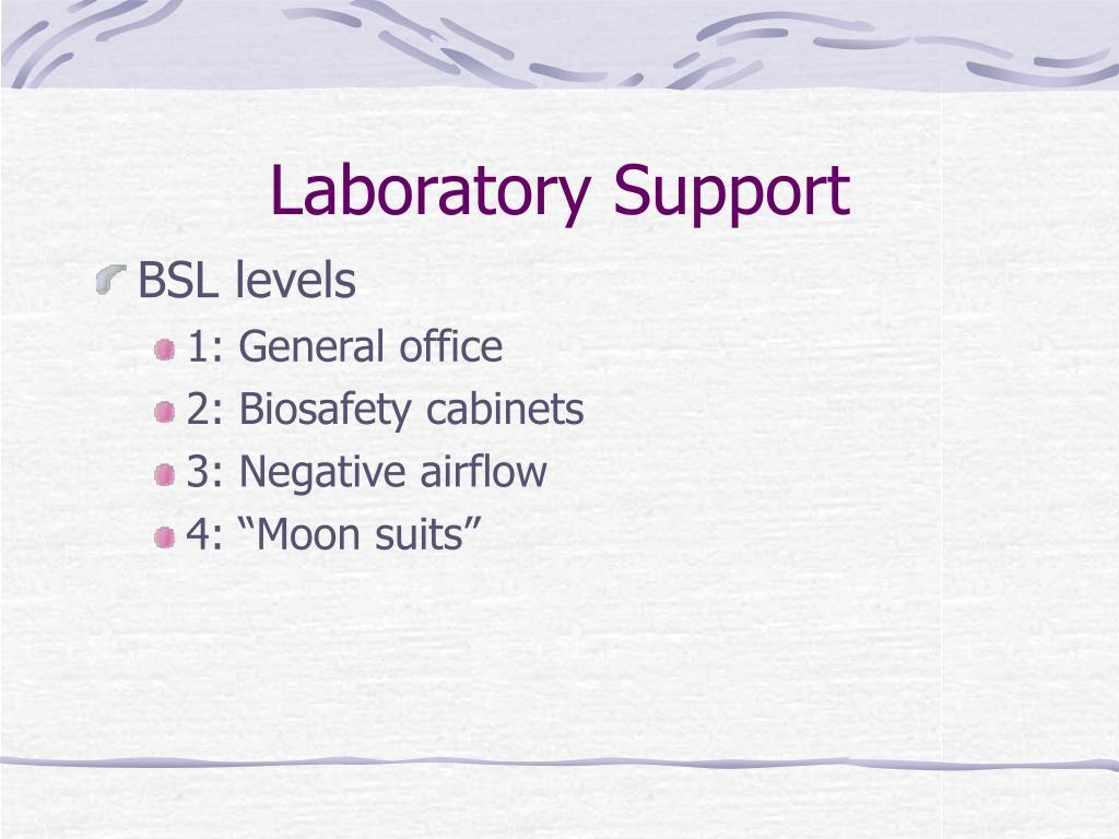 Laboratory Support