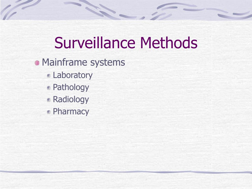 Surveillance Methods