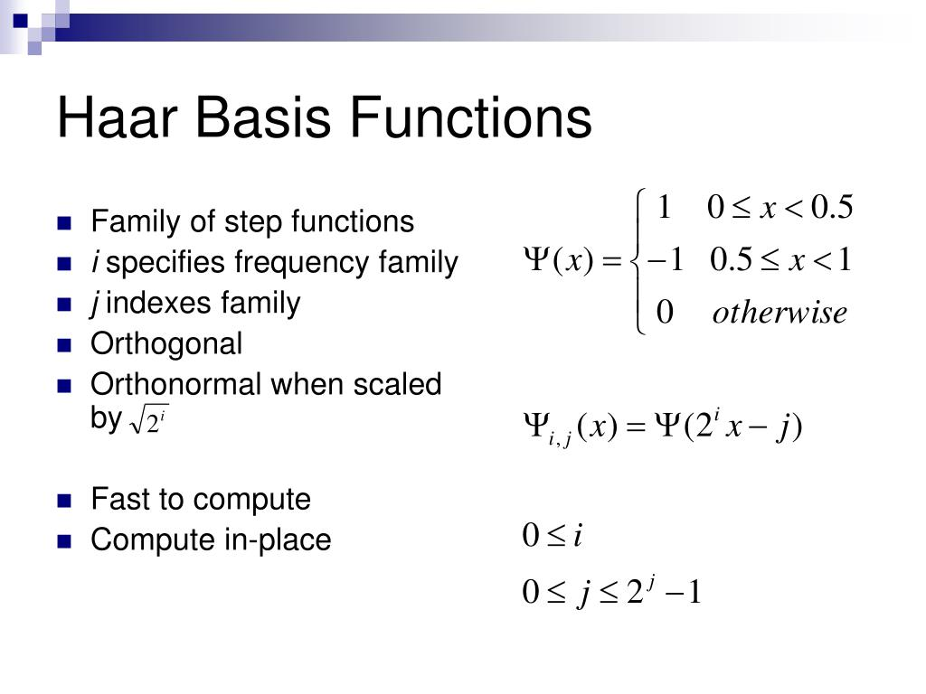 Haar Basis Functions