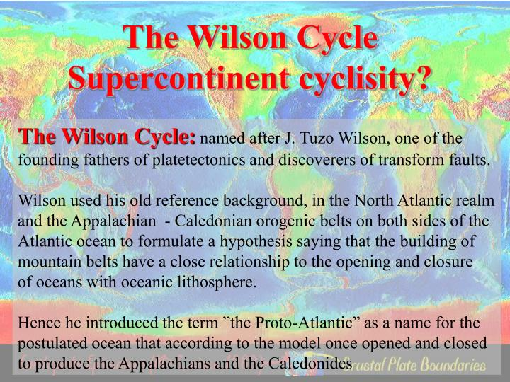 The Wilson Cycle