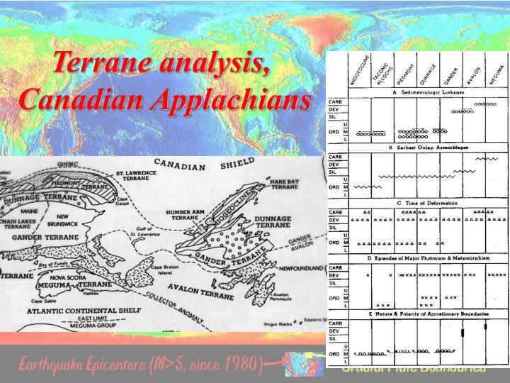 Terrane analysis,