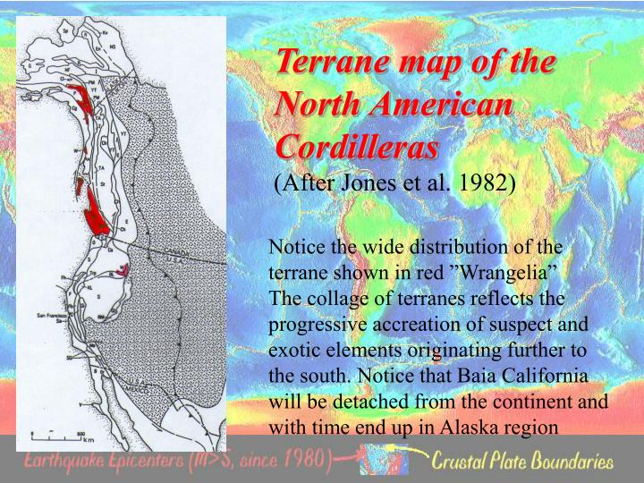 Terrane map of the