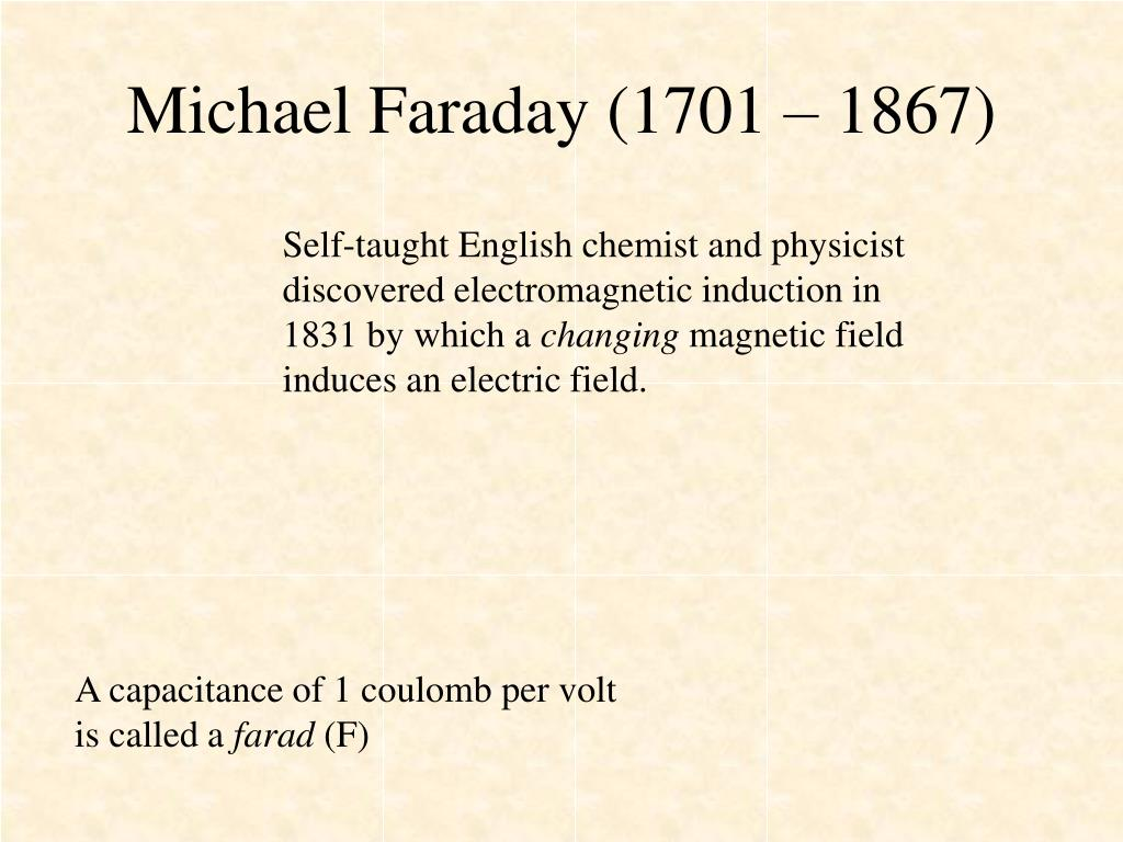 Michael Faraday (1701 – 1867)