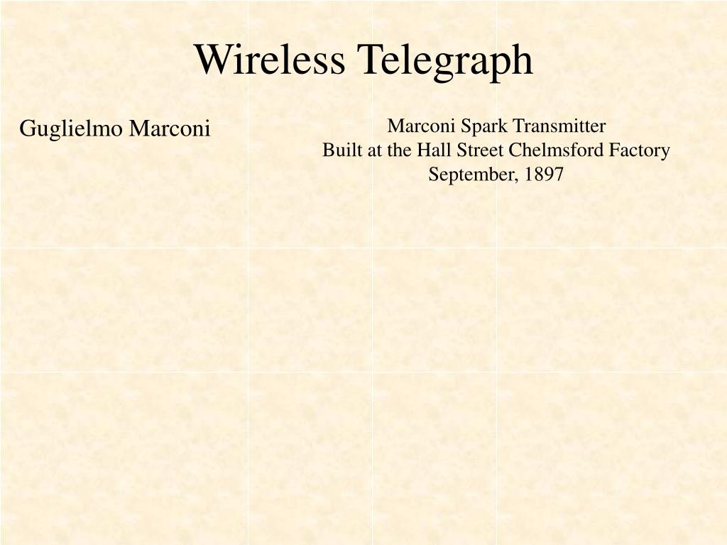 Wireless Telegraph