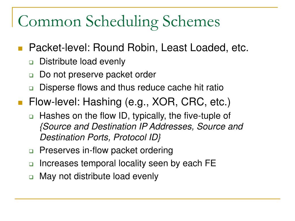 Common Scheduling Schemes