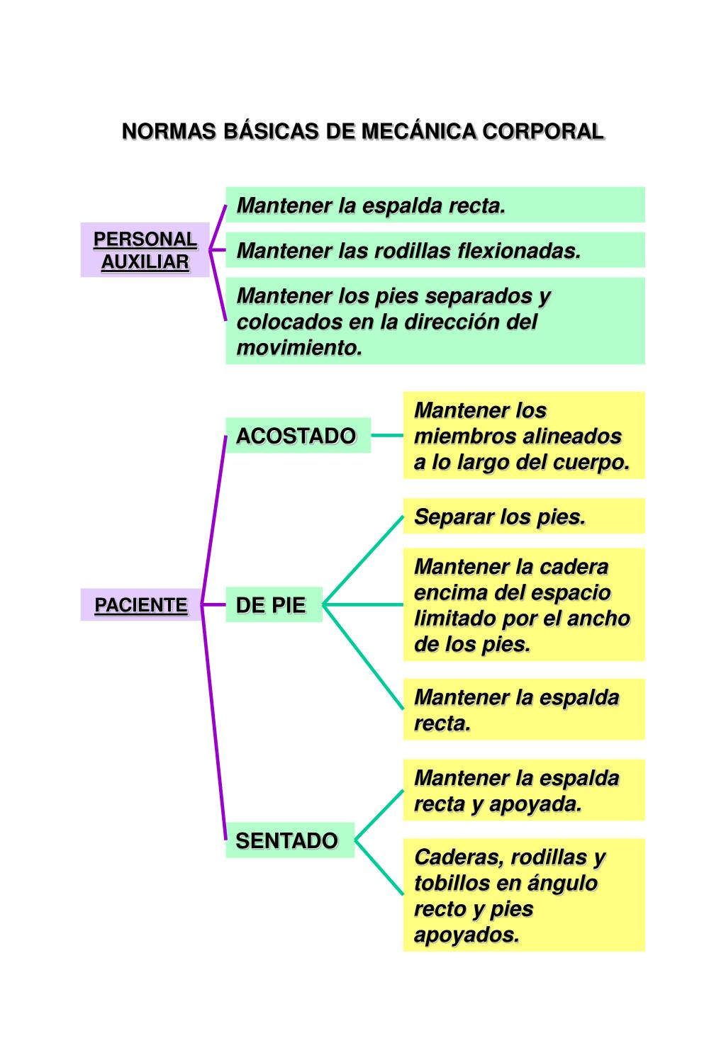 NORMAS BÁSICAS DE MECÁNICA CORPORAL