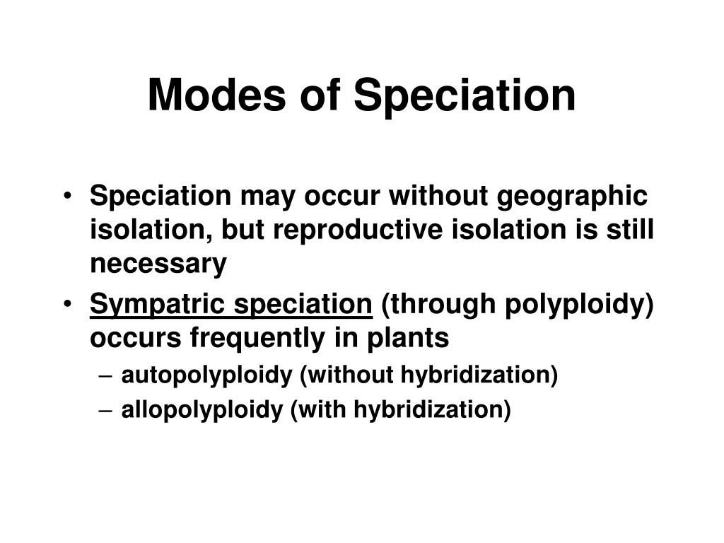 Modes of Speciation