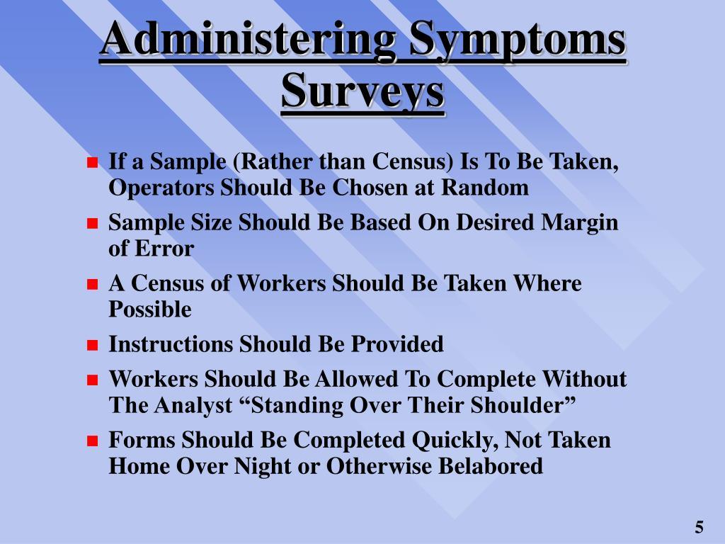 Administering Symptoms Surveys