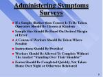 administering symptoms surveys