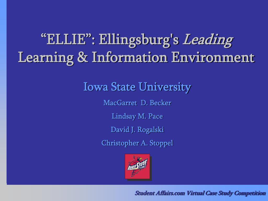 """""""ELLIE"""": Ellingsburg's"""