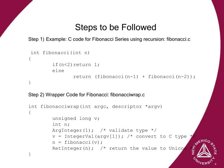 Steps to be Followed