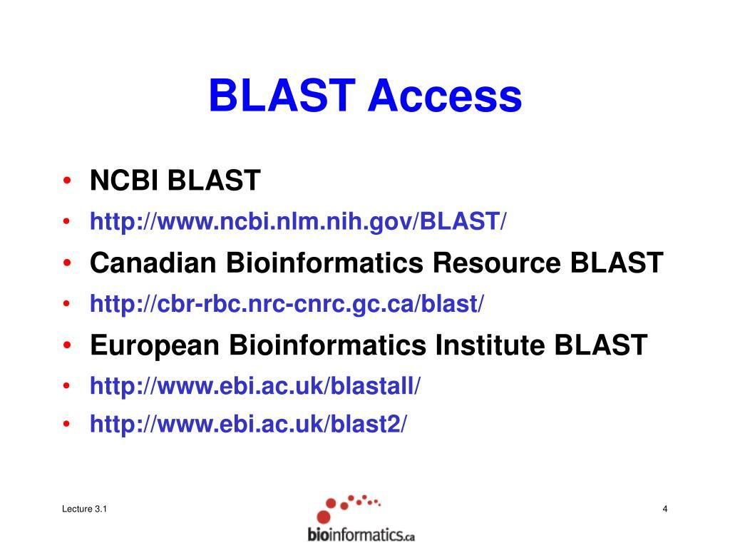 BLAST Access