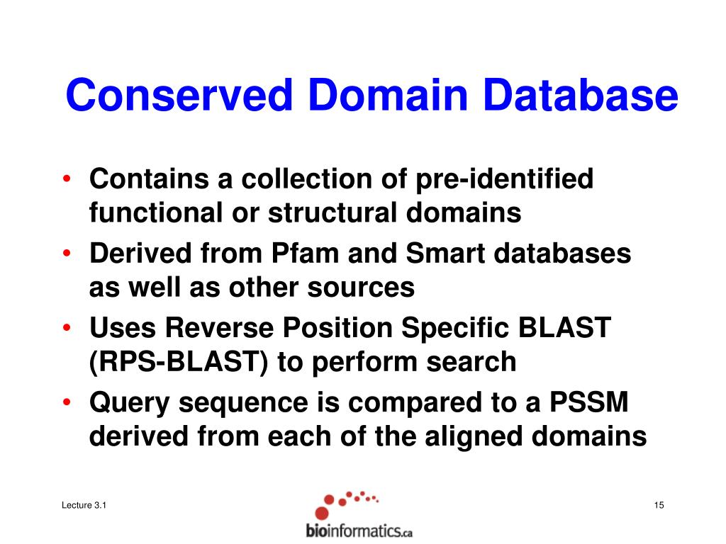 Conserved Domain Database