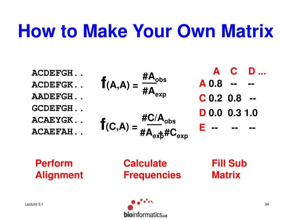 How to Make Your Own Matrix