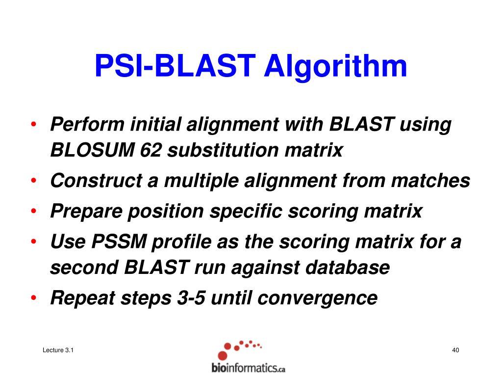 PSI-BLAST Algorithm