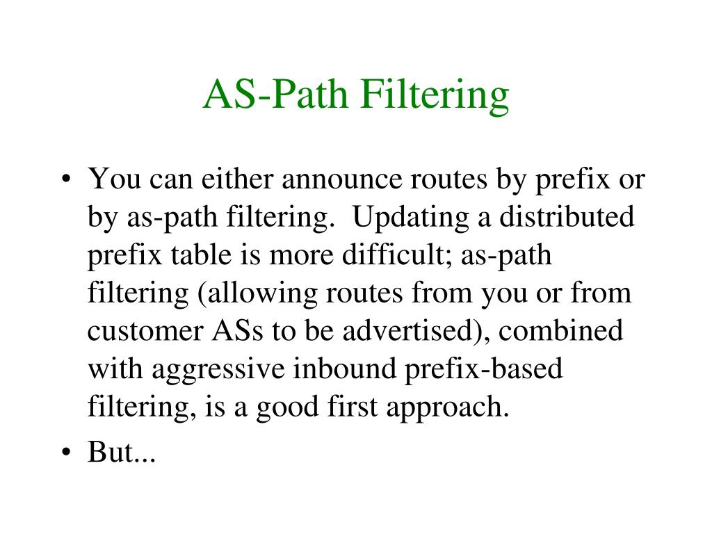 AS-Path Filtering