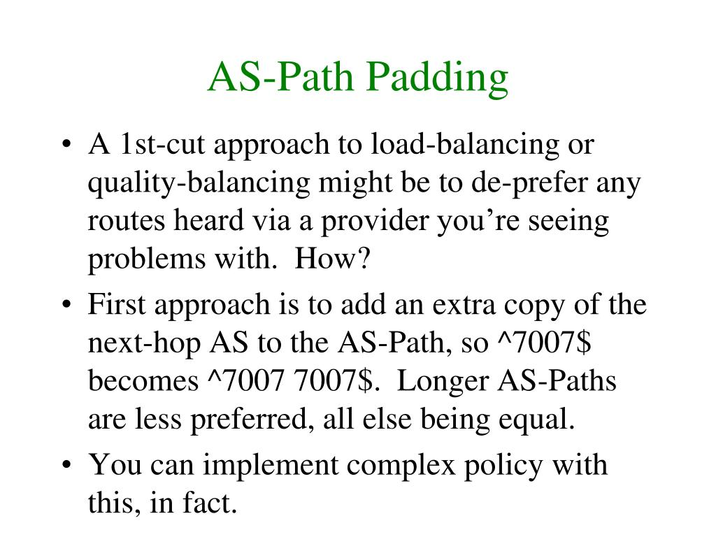 AS-Path Padding